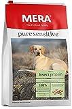 MERA Pure Sensitive Hundefutter  Insect Protein  Trockenfutter für Sensible Hunde - hypoallergen & umweltfreundlich - Single Protein Futter, 4 kg