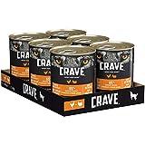 CRAVE Premium Pastete mit Huhn & Truthahn für Hunde – Getreidefreies Adult Nassfutter mit hohem Proteingehalt – Dose 6 x 400 g