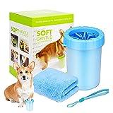 Pfotenreiniger, Tragbarer Haustierpfotenreiniger, Am Besten für Pfotenreiniger geeignet. Pfotenreiniger für Hunde. Hundepfoten reiniger (Für Hunde Mit Handtüchern) Blau