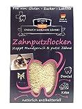 Qchefs Katzen Zahnputzflocken  Zahnpflege- Snack  Zahnsteinentferner  Zahnpulver gegen Mundgeruch & Zahnfleischentzündung  Leckerlis  Hüttenkäse natürlich antibakteriell jodfrei – auch Wählerische