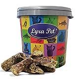 Lyra Pet® 5 kg Rinderlunge 5000 g Kausnack Hundefutter fettarm getrocknet in 30 L Tonne