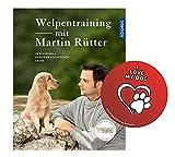 KOSMOS Welpentraining mit Martin Rütter (Gebundene Ausgabe) + Hunde Sticker, Hundeerziehung