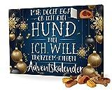 printplanet Hunde-Adventskalender mit Leckerlis - Motiv Mir doch egal - Weihnachtskalender für Hunde - 2021