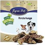 Lyra Pet® 10 kg Rinderlunge 10000 g getrocknet fettarm Hundefutter Belohnung Leckerli Rind