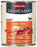 animonda Gran Carno adult Hundefutter, Nassfutter für erwachsene Hunde, Rind + Huhn, 6 x 800 g