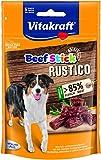 Vitakraft Hundesnack, Geräucherte Salami-Häppchen, Extra hoher Fleischanteil, Beef Stick Rustico (7 x 55g)