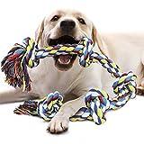 VIEWLON Hundespielzeug Seil für Starke große Hunde, Zerrspielzeug Hund Robuste Kauspielzeug 5 Knoten Tau für Aggressive Kauen, 92 cm Hundeseile interaktive Kauen Spielzeug für mittlere und große Hunde