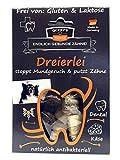 Qchefs Dreierlei  Hunde Zahnpflege-Snack  Zahnsteinentferner  Hundeleckerli- kleine & große & Allergiker  Leckerli gegen Mundgeruch & Zahnfleischentzündung  Hüttenkäse- natürlich antibakteriell