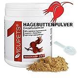 Vicupets 250g Hagebuttenpulver für Hunde, Pferde & Katzen I Hoher Vitamin C Gehalt zur Stärkung der Abwehrkräfte I 100% Hagebuttenpulver für Pferde