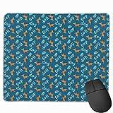 Rechteck Mauspad niedlichen Hund Welpenfutter Durchmesser Gaming Computer Laptop Mousepad mit genähter Kante Gummibasis, rutschfeste bequeme haltbare, wasserdichte Mausmatte