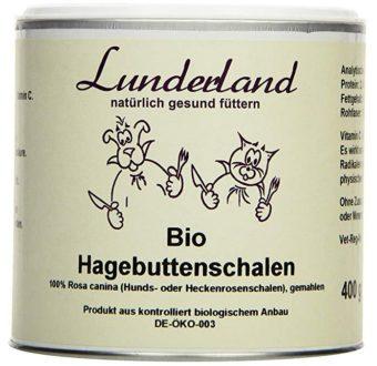 Dose mit Bio Hagebuttenpulver von Lunderland.