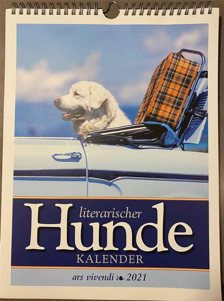 Titelbild Der literarische Hundekalender für 2021.