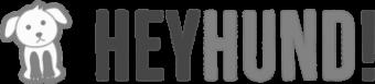 Logo Heyhund.com in grau.