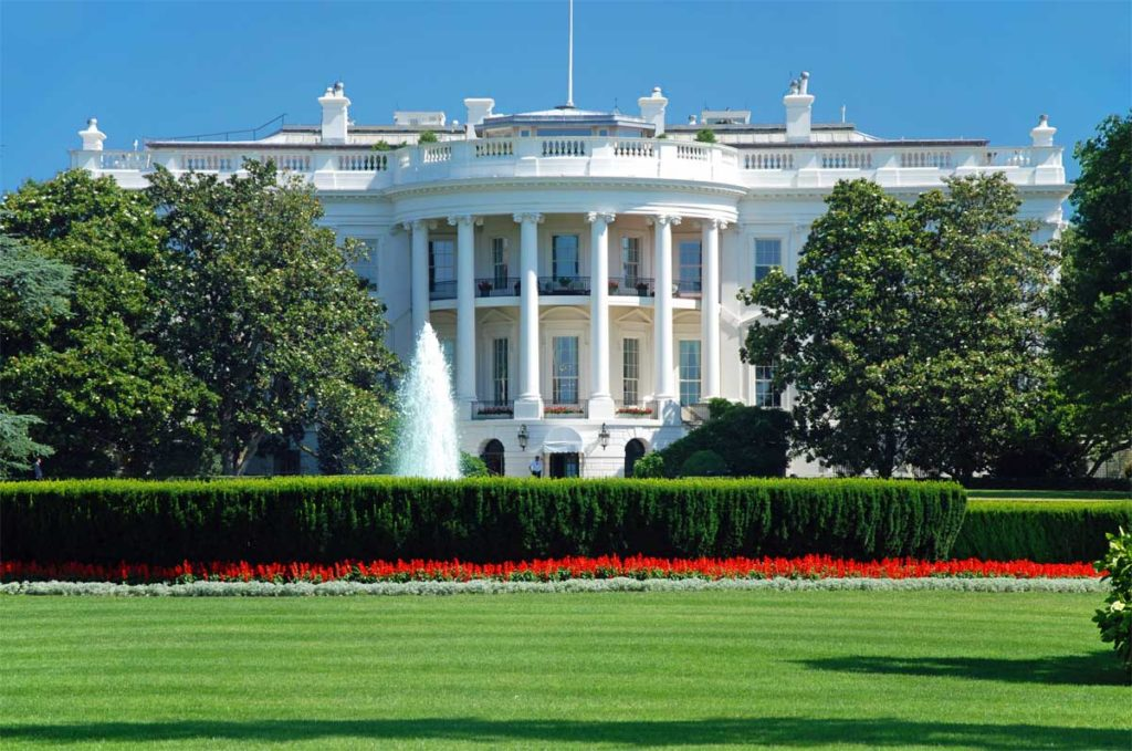 Weißes Haus Washington USA.